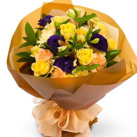 노랑장미혼합꽃다발